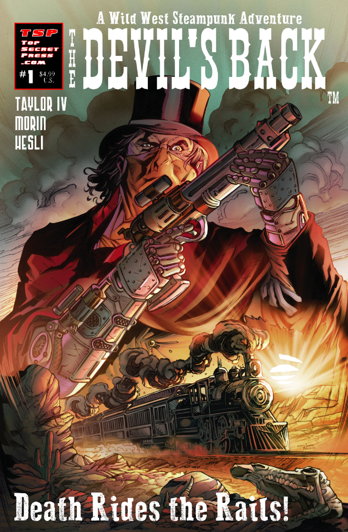 The Devil's Back #1 (Cover A) Carlos Paul - (Dynamite /Pencils), Sandro Ribeiro (Valiant/Inks) and Ivan Nunes (DC Comics/Colors).