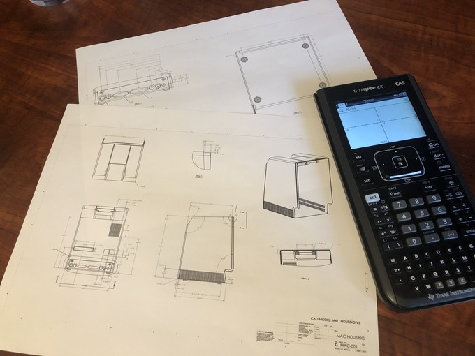 Our First Version Engineering Drawing