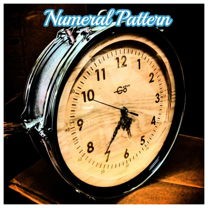 Our hand craft drum shape clock - Standard Numeral Pattern