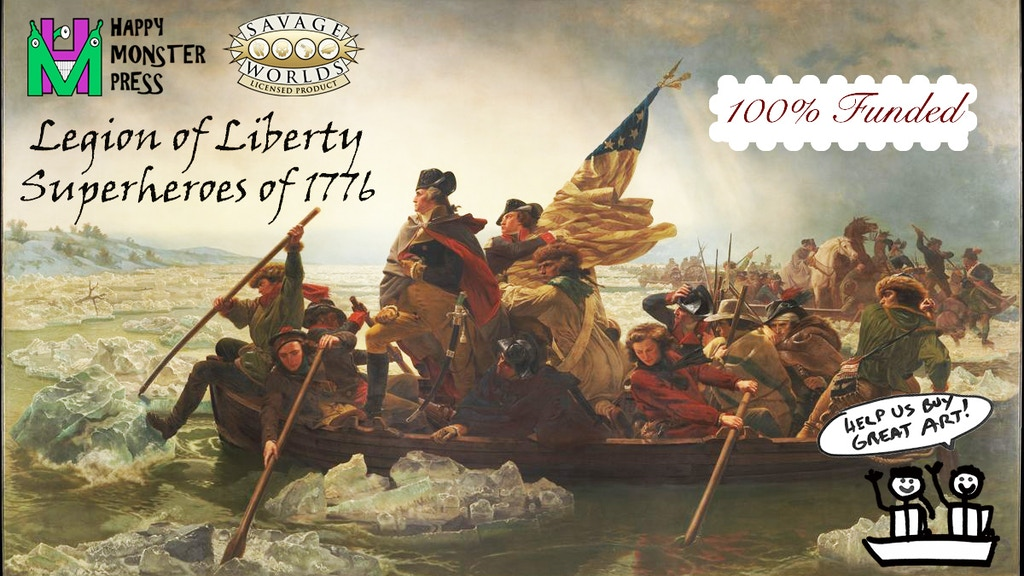Legion of Liberty: Superheroes of 1776 for Savage Worlds RPG project video thumbnail