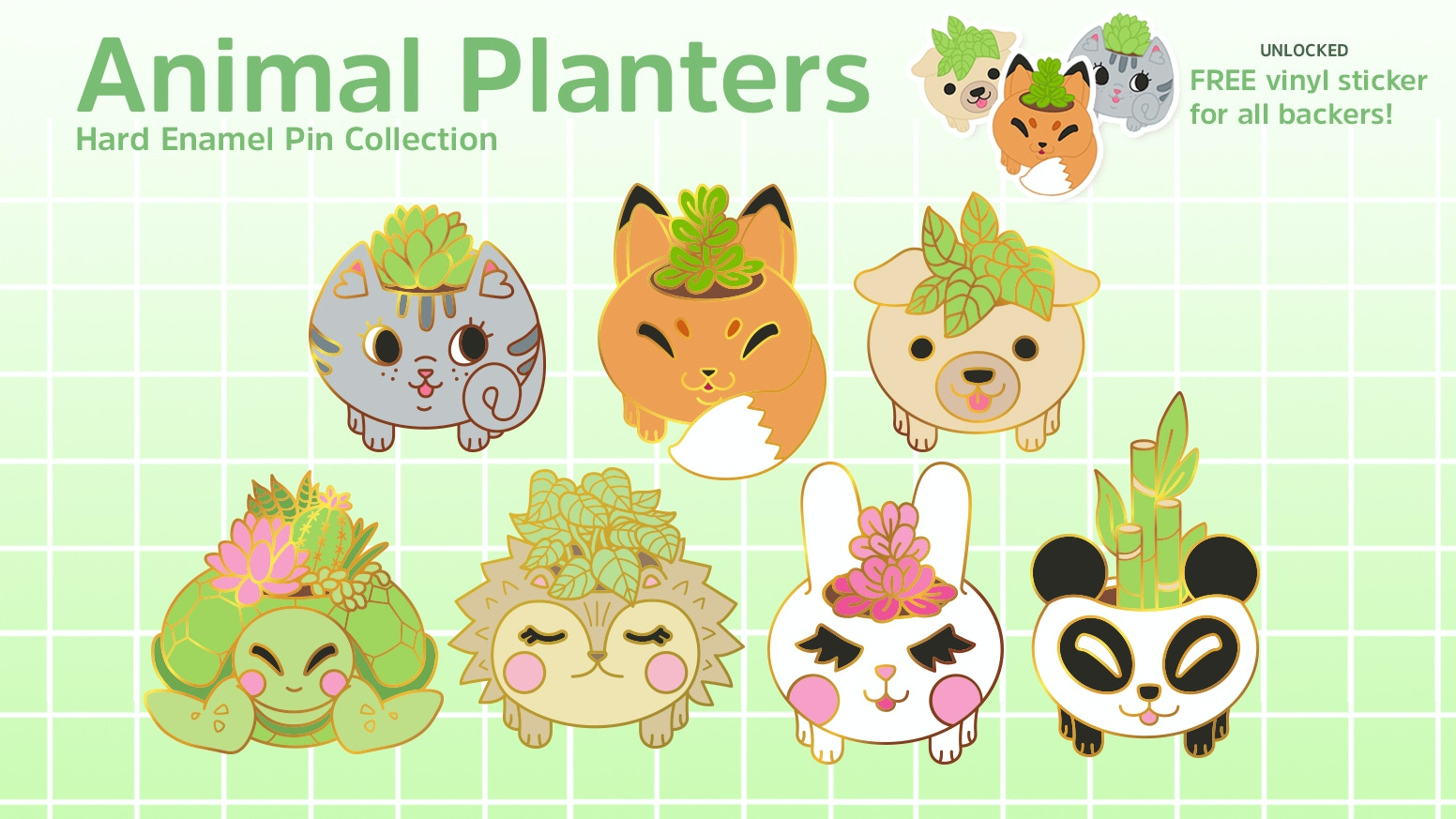 A quickstarter for these Kawaii Animal Planters --  just in time for spring! ♥
