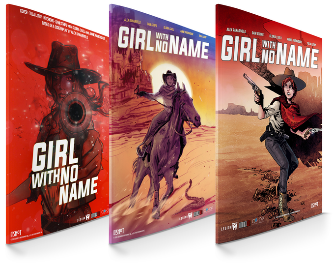 """Girl With No Name"" Cover Variants (mockup)"
