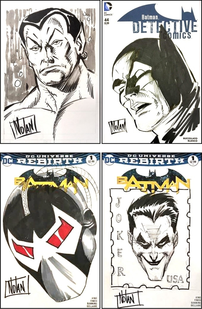 Graham Nolan Head Sketch examples.