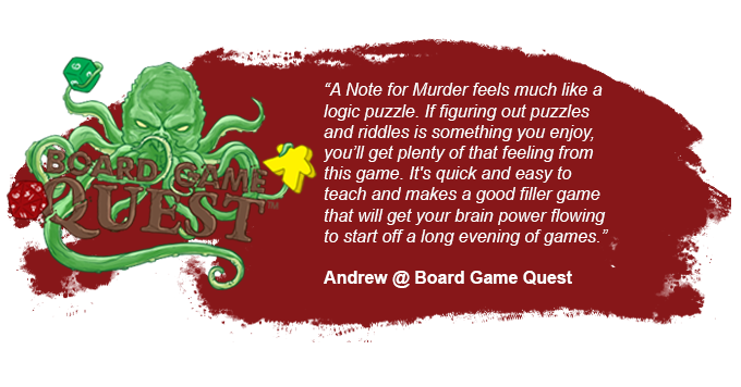 Check out the full preview here: https://www.boardgamequest.com/a-note-for-murder-preview/