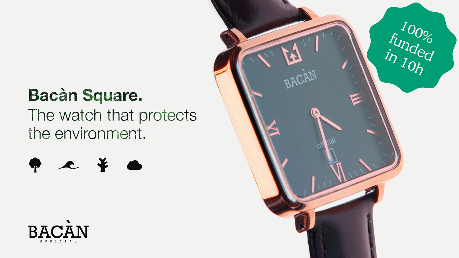 A watch that protects the planet, designed in Italy. Where care for details, affordability and sustainability play on the same ground.
