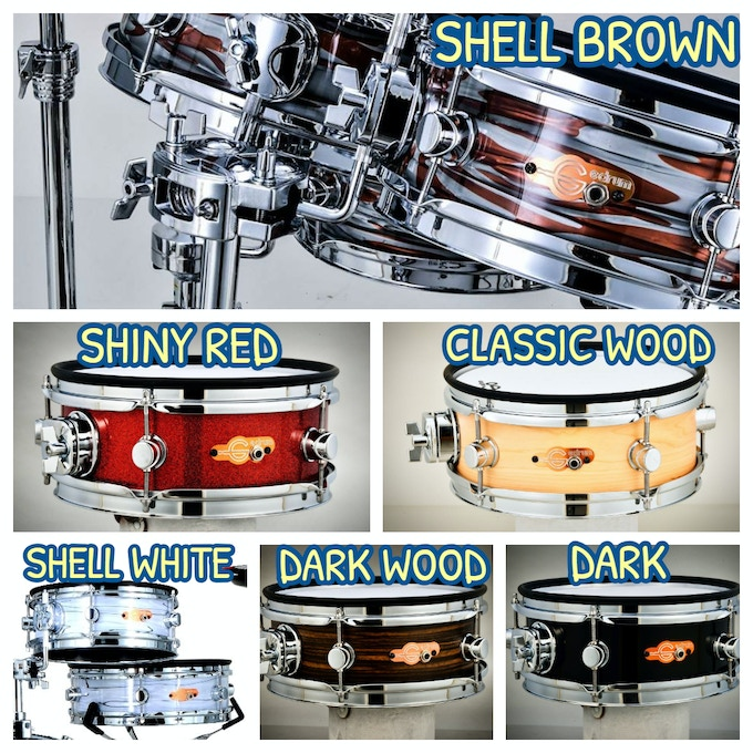 We offer multiple colors as choices that can meet your personal preference. Six colors for options , Shell Brown , Shell White , Black , Dark Wood , Classic Wood and Shiny Red