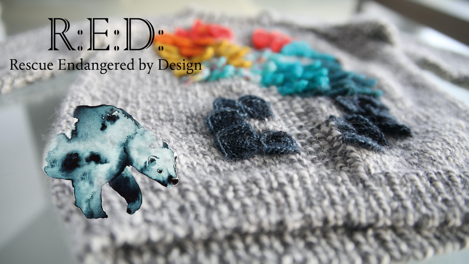 R:E:D: A book to raise awareness of endangered species through design. Knitted jumpers with animal motifs will start a wave of love.