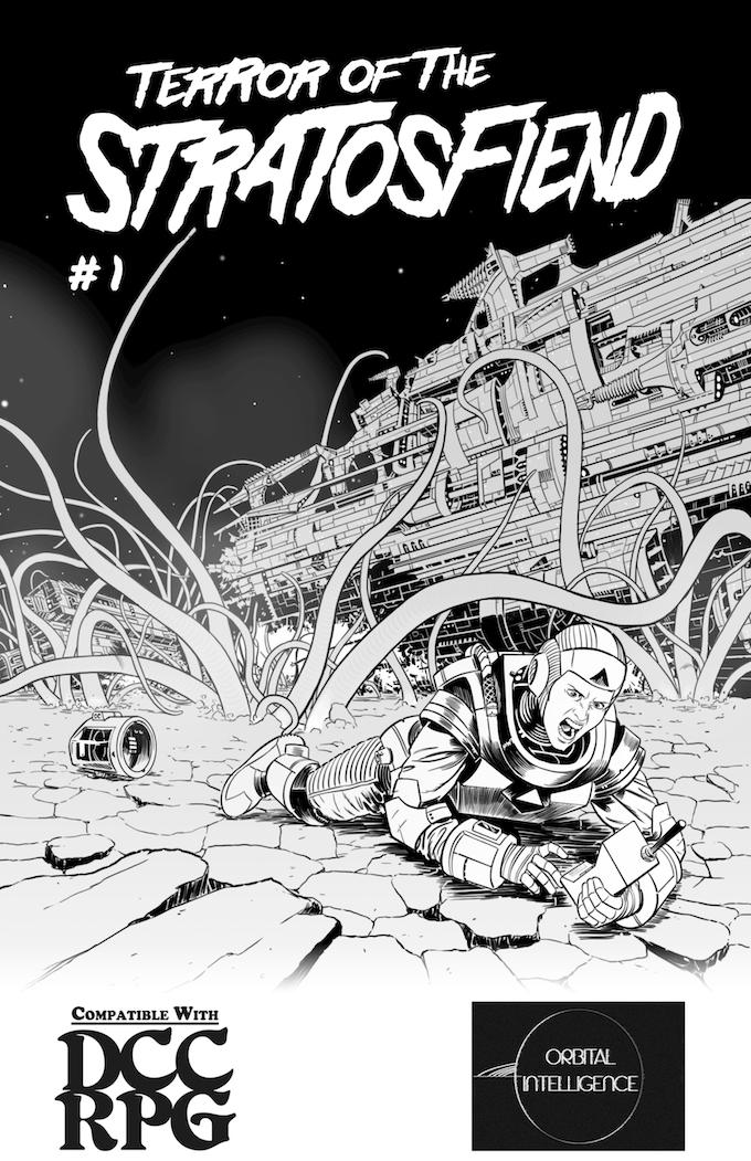 Terror of the Stratosfiend #1, Cover by James Everett Jackson, Graz, Michael Weeks, Glynn Seal (MonkeyBloodDesign), & Sean Richer
