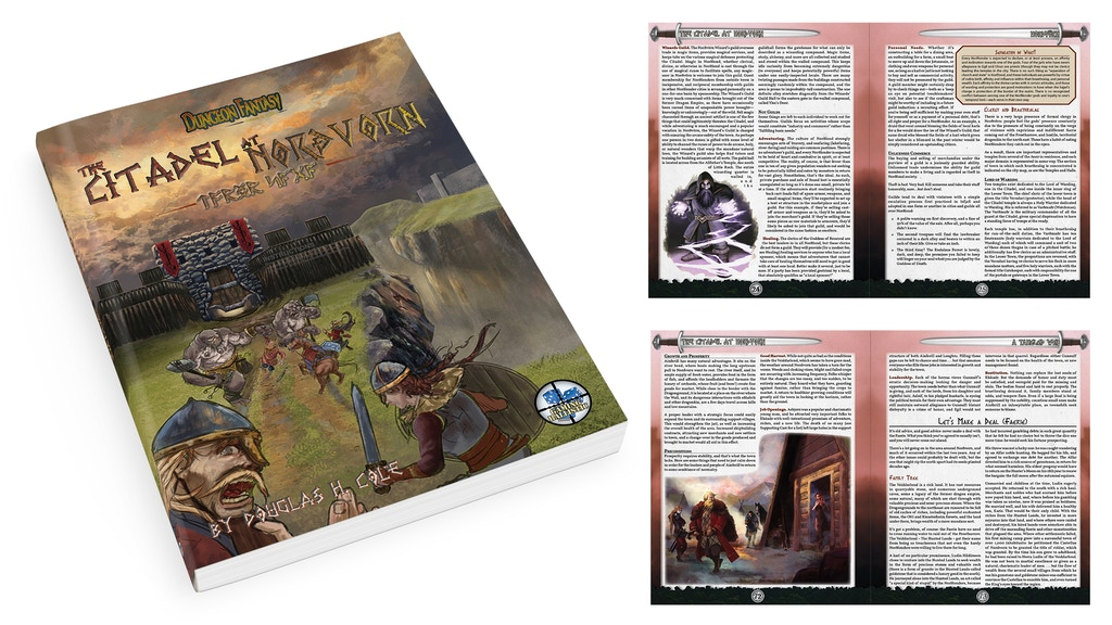 Return to Norðlond with this detailed Norse-flavored setting for the Dungeon Fantasy RPG.