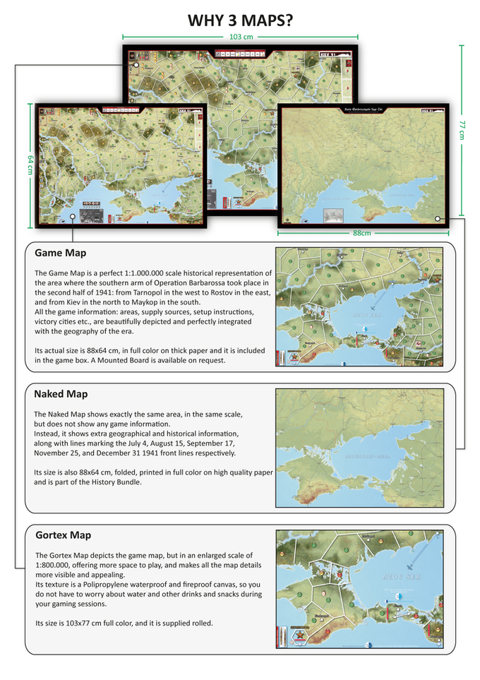 Three Maps for three different gaming experience