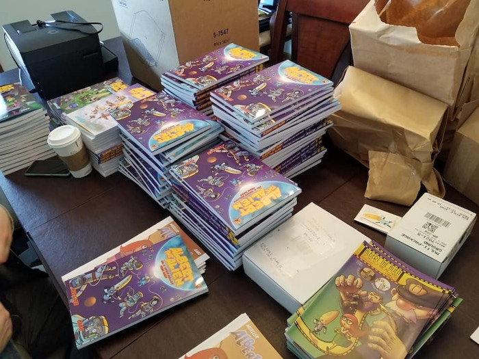 Seriously, this is a LOT of books...and this is just a fraction of what was pre-ordered