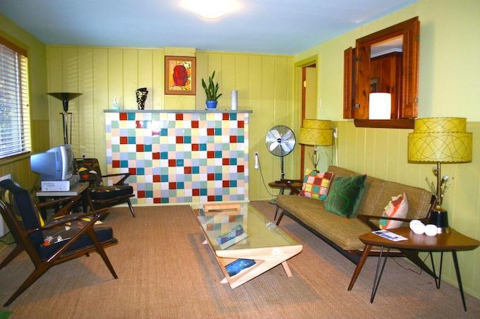 Inside Kate's Lazy Meadow Motel, Catskills NY