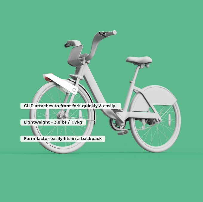 Clip Bike Motor Mounted