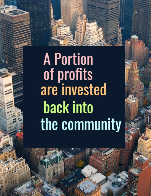 We will continue to choose to invest in the community.