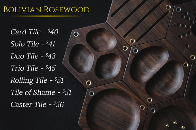 NOTE:  This set was built from a very dark piece of Bolivian Rosewood, which can range from this dark coloration to a lighter and highly varied reddish coloration. If you would like to see another side of Bolivian Rosewood, click this image to see another sample on our website.