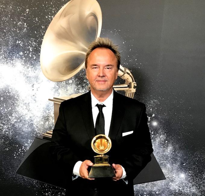Winning a Grammy Award in February 2018