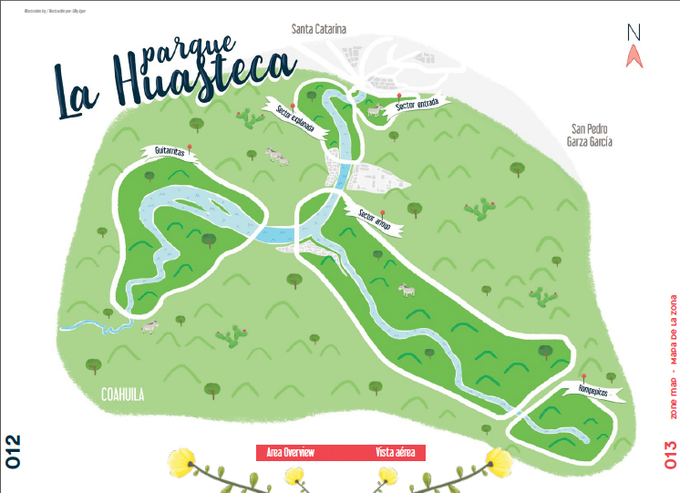 Custom graphic maps of the park