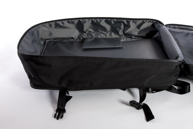 PU coated nylon interior for water resistance