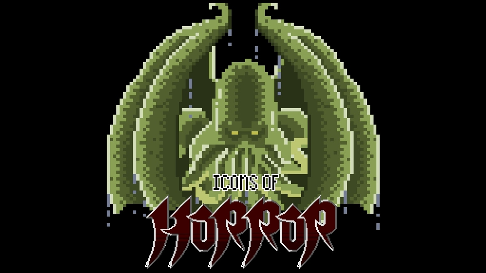 A 50-page pixel art collection of iconic horror characters.