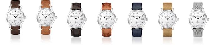 Armbänder verändern zwar nicht den Charakter einer Uhr, aber doch ihr Aussehen. Vintage-Sattelleder (braun; cognac), Kalbsleder mit Krokoprägung (braun; cognac), Veloursleder (blau; cognac) oder Milanaise aus kunstvoll gefertigten Edelstahlgeflecht?