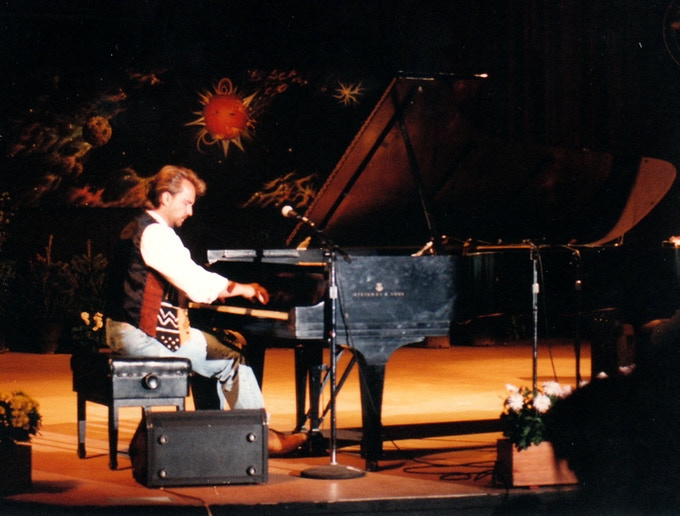 """Playing with John Denver at his """"Choices for the Future"""" symposiums 1987-97"""