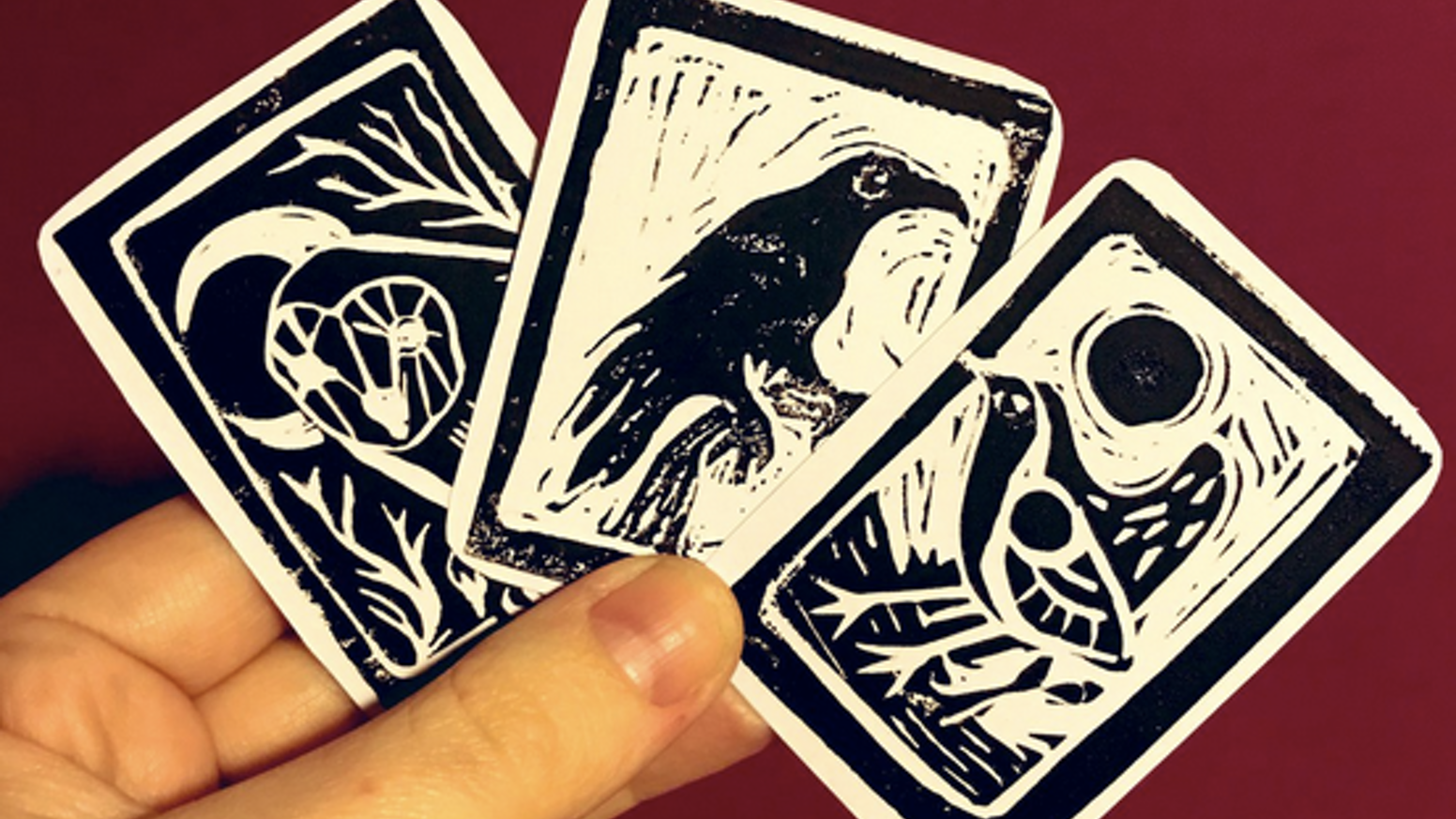 A limited-edition set of hand-printed oracle cards.