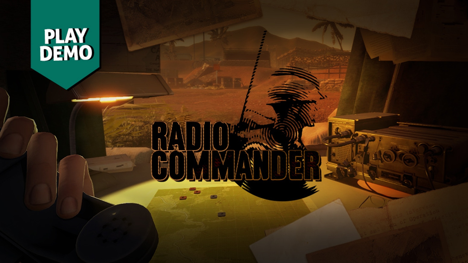 Use the radio to give commands to the soldiers on the battlefield. Keep track of the situation based on their voice reports only.