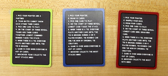 The Alternate Rule Cards!