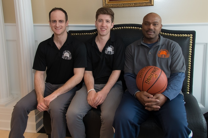 Eric - Co-Founder(Left), Dylan - Co-Founder (Middle) and Tim Hardaway - Crossover King (Right)