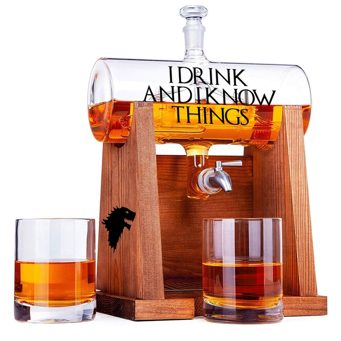 Limited Edition - Custom Whisky/Wine Decanter, 2 small included will be engraved*