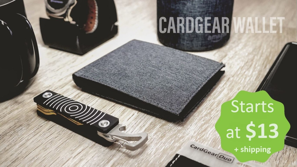 CardGear Wallet: Slim bifold wallet with fantastic features