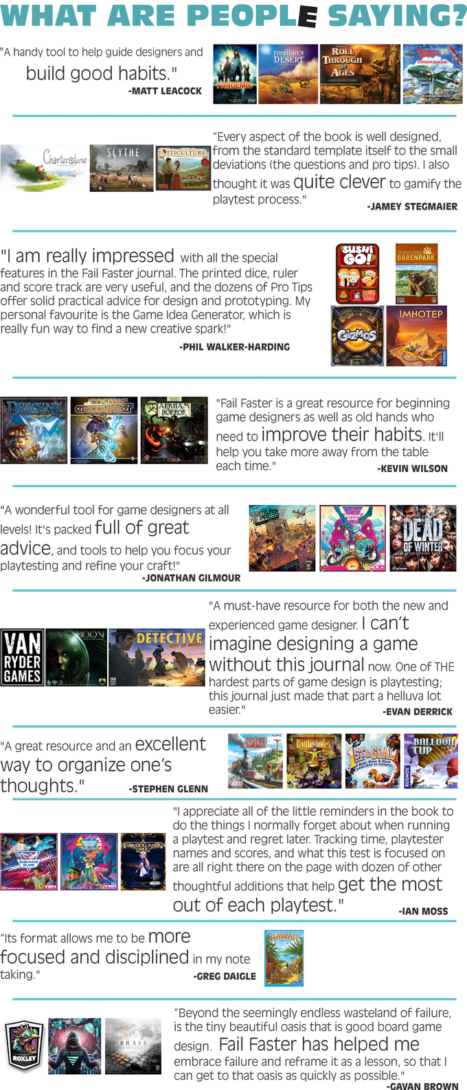 Fail Faster: The Playtesting Journal by Jay — Kickstarter