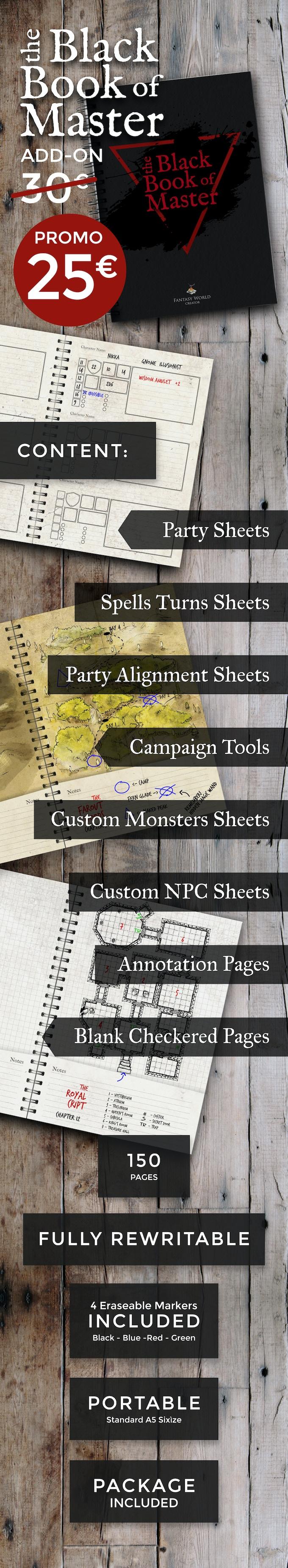Fantasy World Creator + APP: Modular tiles for TABLETOP RPG