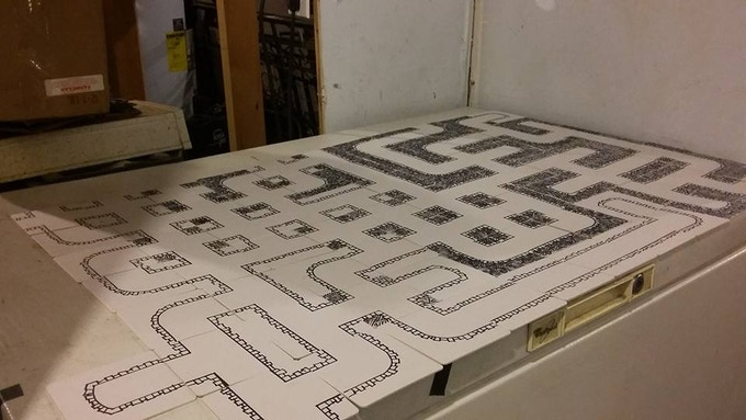 During early development, all the dungeon tiles were hand drawn. I still have blisters on my fingers.