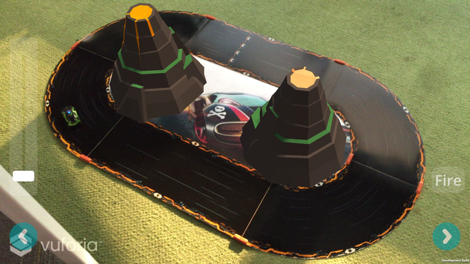 "Twin Volcanos on Anki Overdrive ""Microloop"" track"
