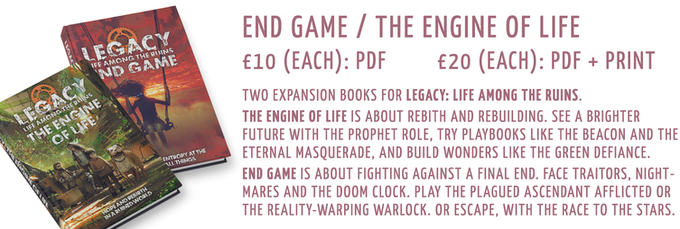 End Game/The Engine of Life: £15 PDF, £20 PDF + Print