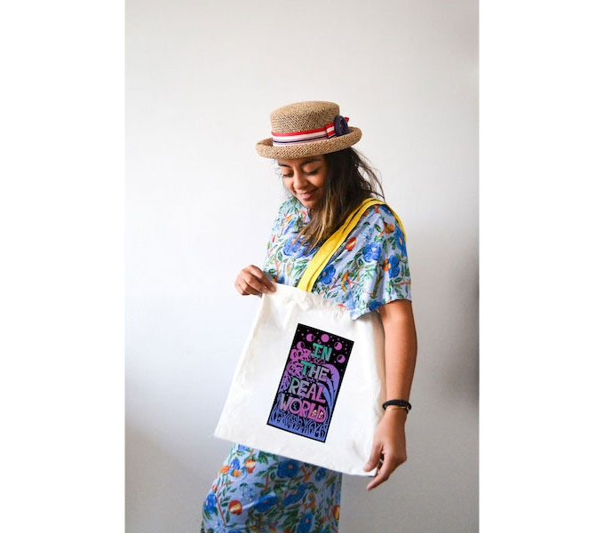 In the Real World (Tote Bag / unique design by Anitta Moon)