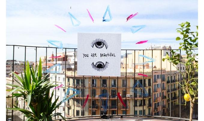 You are Beautiful (Stickers / unique design by Alex Serra)