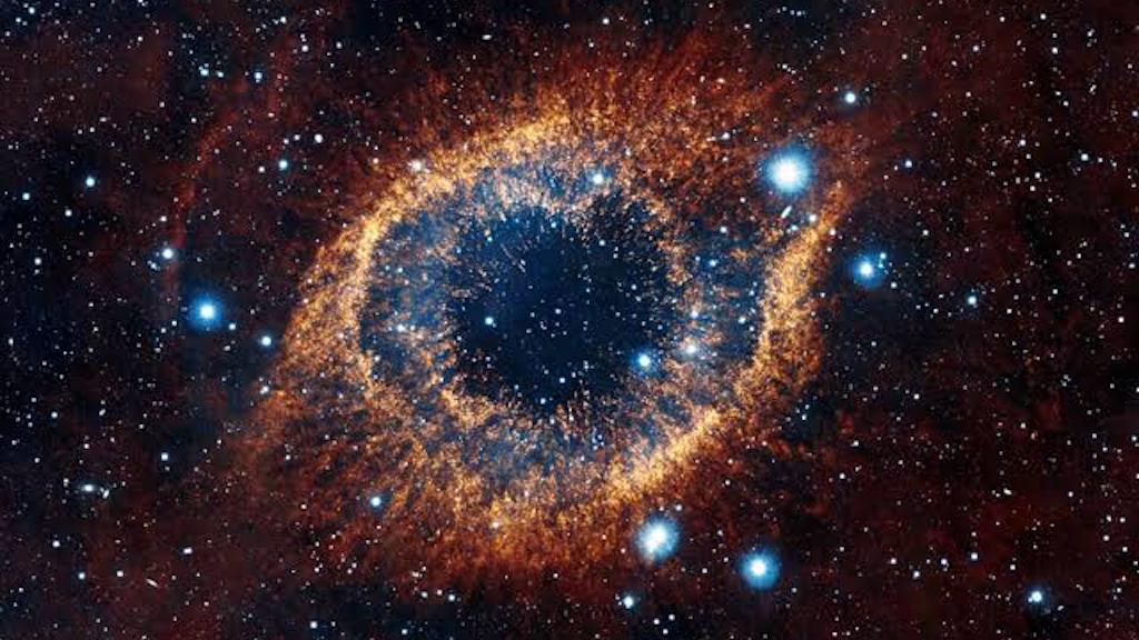 Pintura al óleo 2m x 2m de la nebulosa Ojo de Dios