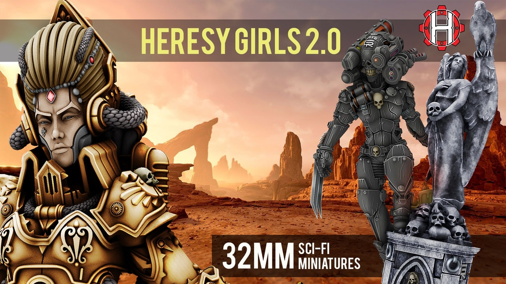 HeresyLab - Heresy Girls 2.0 resin Scifi miniatures & STL project video thumbnail