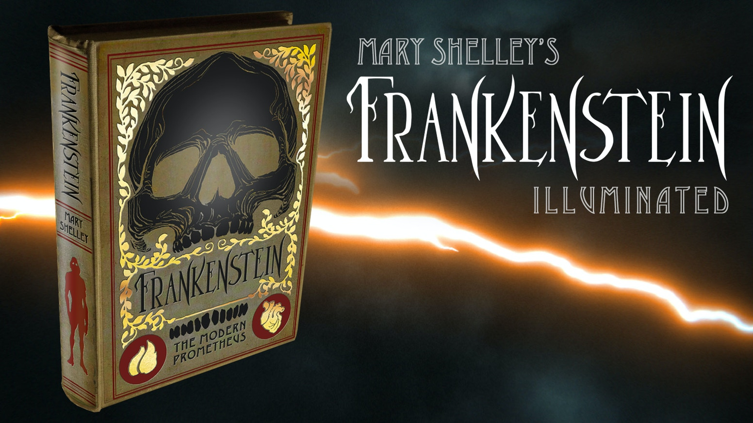 An illuminated edition of the original science fiction horror 1818 novel Frankenstein by Mary Shelley. Illustrated by Matt Hughes.