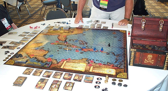 SeaRovers v2.0 demo game at ORIGINS 2007.