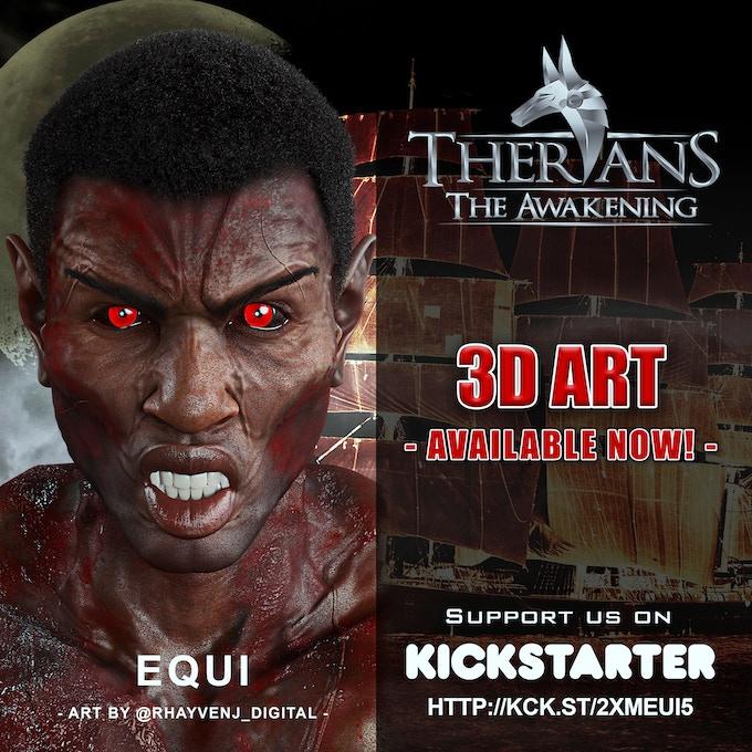 """Therians"" Inspired, 3D artwork by Rhayven J. @rhayvenj_digital"