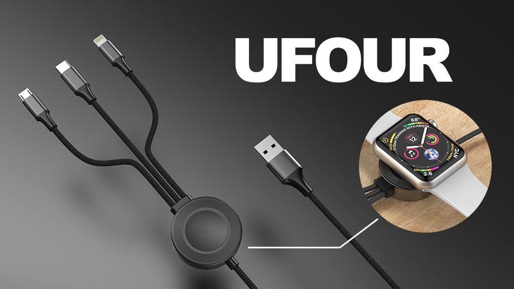 UFour: Apple watch wireless pad w/ multi charging cables