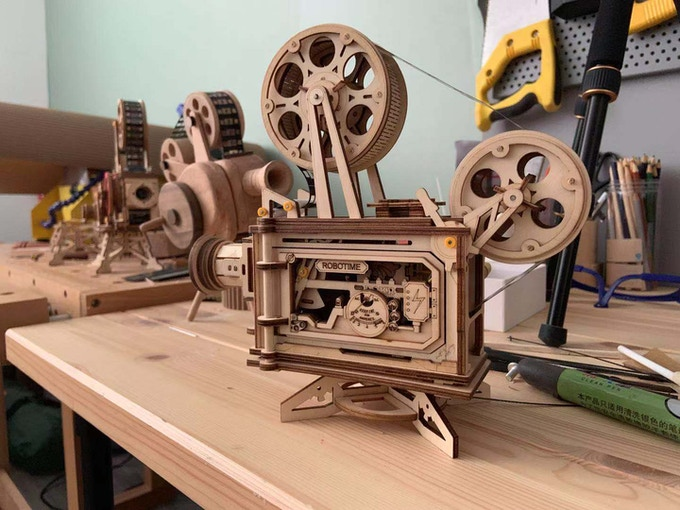 ROKR Vitascope, 3D Wooden Puzzle, Classic Film Projector by