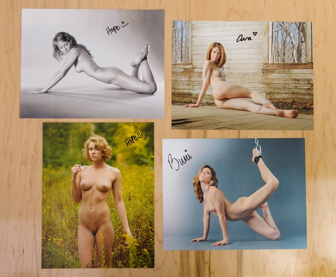Choose the model autographed page you want! Hope outside, Hope studio, Ava, or Buni.