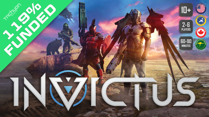 A deck building game set 200 years in the future in which teams of Greek gods compete for the title of Invictus.