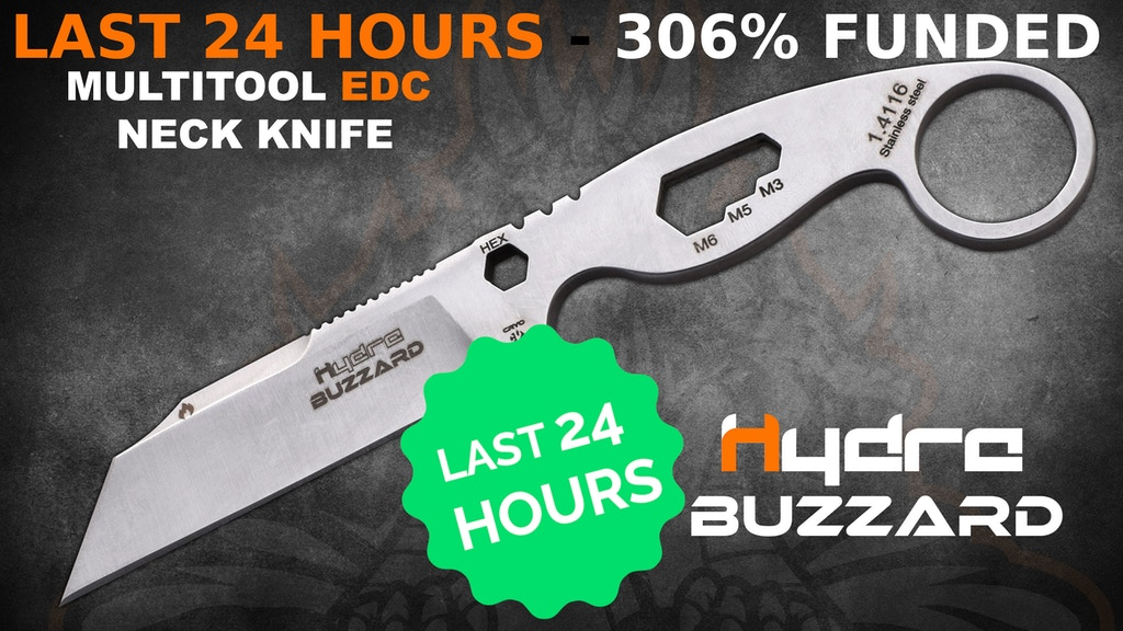 BUZZARD: U.S.A-INSPIRED EVERYDAY CARRY MULTITOOL NECK KNIFE project video thumbnail