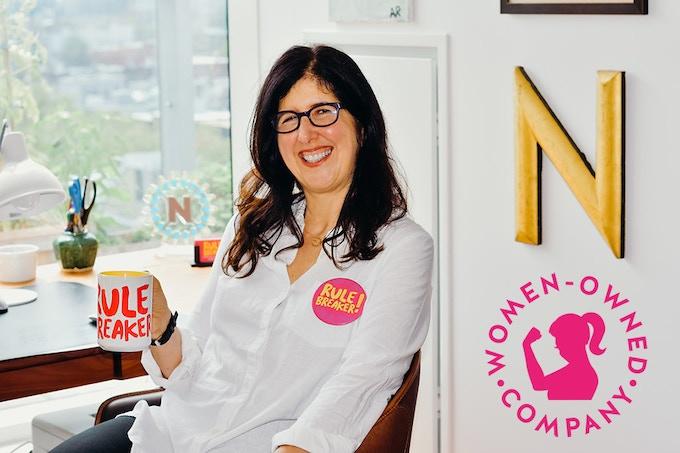 Chief Rule Breaker Nancy Kalish in her Brooklyn office