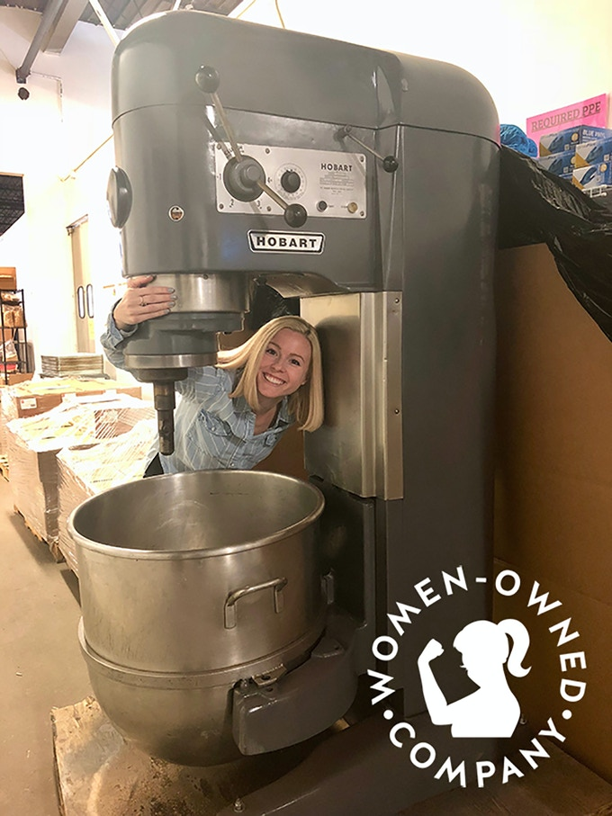 Master baker Michelle Carfagno is the owner of The Greater Knead, the bakery where Rule Breaker Snacks are made.  They also have their own brand of awesome gluten-free and allergy-friendly bagels and bagel chips.
